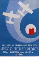 Load image into Gallery viewer, Sports Poster '7th sports day pf the USSR' | Lithuania | 1979