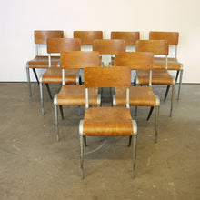 Load image into Gallery viewer, 1950s James Leonard Esavian ESA Dining Chairs & Aluminium Frame - Set Of Eight