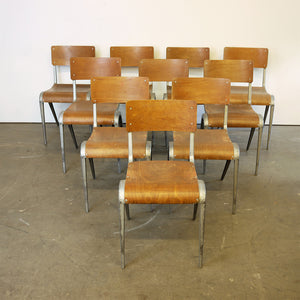 1950s James Leonard Esavian ESA Dining Chairs & Aluminium Frame - Set Of Six