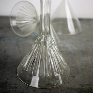 1950s Decorative Collection Of Large (And Small) Glass Funnels