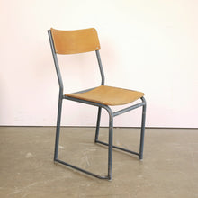 Load image into Gallery viewer, 1940s Set Of Six Grey Frame Dining Chairs
