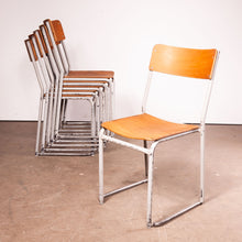 Load image into Gallery viewer, 1960s Set Of Six White Frame Dining Chairs
