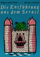 Load image into Gallery viewer, Theatre Poster 'The abduction from the Seraglio' | East Germany | 1987