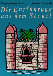 Theatre Poster 'The abduction from the Seraglio' | East Germany | 1987