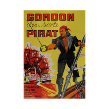 Load image into Gallery viewer, Film Poster 'The Black Pirate' | Denmark | 1963