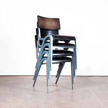 Load image into Gallery viewer, 1960s Rare Blue Frame James Leonard Esavian ESA Dining Chairs - Set Of Four