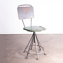Load image into Gallery viewer, 1950s Russian Industrial Swivelling Welders Chair