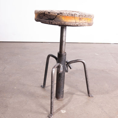 1950s French Industrial Welders Stool #1