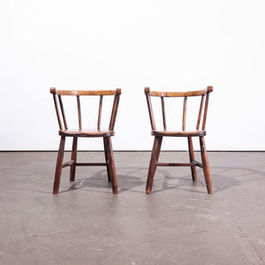 1890s Pair Of Victorian Child's Chairs