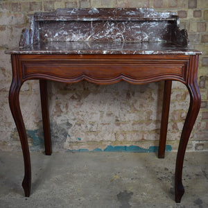 Antique Victorian French Marble Topped Console table