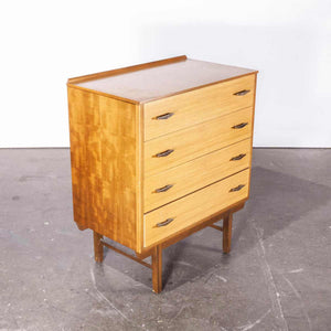 1960's French Mid Century Teak Chest Of Drawers