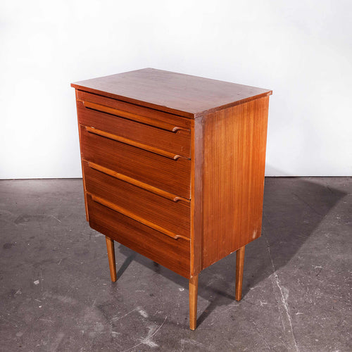 1960's Teak Four Drawer Chest Of Drawers - Mid Century