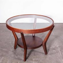 Load image into Gallery viewer, 1950's Round Occasional Table By Kozelka And Kropacek for Interieur Praha - Dark Oak