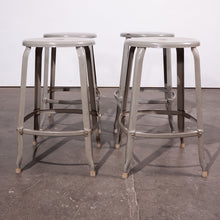 Load image into Gallery viewer, 1950s Original Industrial Nicholle Stacking Stools - Set Of Four