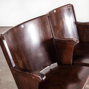 1930's Original Thonet Cinema Seats With Enamel Numbers - Pair Numbered 1-2