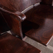 Load image into Gallery viewer, 1930's Original Thonet Cinema Seats With Enamel Numbers - Pair Numbered 1-2