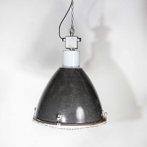 1950's Large Industrial Enamelled Hanging Pendant Lamps
