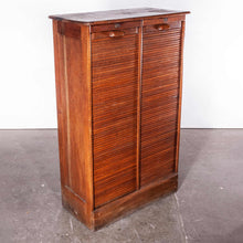 Load image into Gallery viewer, 1930's Thonet Tambour Fronted Oak Cabinet