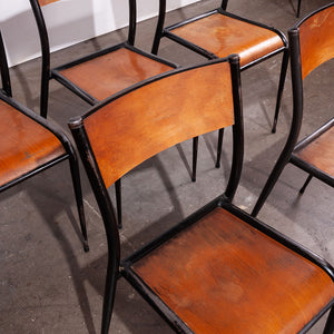 1950s Mullca Tapered Leg Stacking Dining Chairs - Set Of Twelve