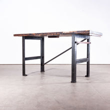 Load image into Gallery viewer, 1890s Industrial Mill Work Bench / Console Table