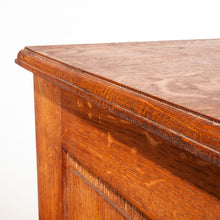 Load image into Gallery viewer, 1930s French Tambour Fronted Oak Notaires Cabinet