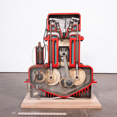 1950s Internal Combustion Engine Working Teaching Model