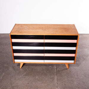 1950s Eight Drawer Oak Chest Of Drawers By Jiri Jiroutek For Interieur Praha (368)