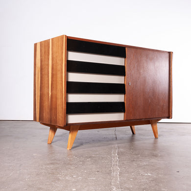 1950s Four Drawer Oak Chest Of Drawers / Cabinet By Jiri Jiroutek For Interieur Praha