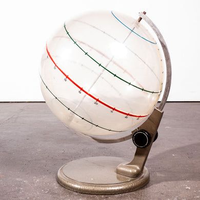 1950s Opaque Earth Geography Rotating Teaching Globe