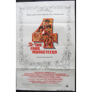 1974 The 4 Musketeers Film Poster
