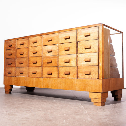 1950s Twenty Four Drawer Haberdashery Unit / Chest of Drawers / Display Cabinet