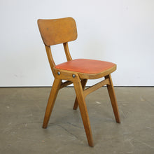 Load image into Gallery viewer, 1960s Centa Café/Diner Upholstered Dining Chair - Red Seat - Set Of Four