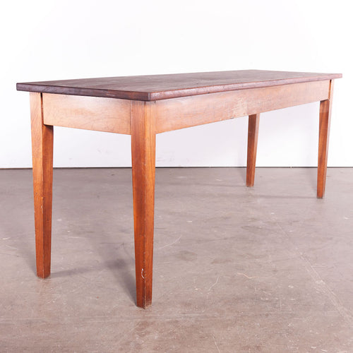 1950's Rectangular Laboratory Dining Tables With Solid Iroko Tops