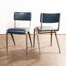 Load image into Gallery viewer, 1950's James Leonard Esavian ESA Upholstered Stacking Dining Chairs - Side Chairs - Set Of Two