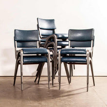 Load image into Gallery viewer, 1950's James Leonard Esavian ESA Upholstered Stacking Dining Chairs - Side Chairs - Set Of Eight