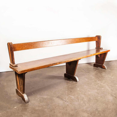 1950's French Café Bar Tabac Large Bench