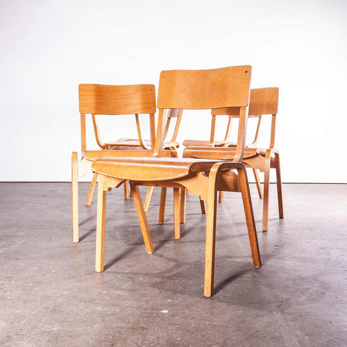 1950's Stacking Dining Chairs Made By Tecta Designed By Stafford