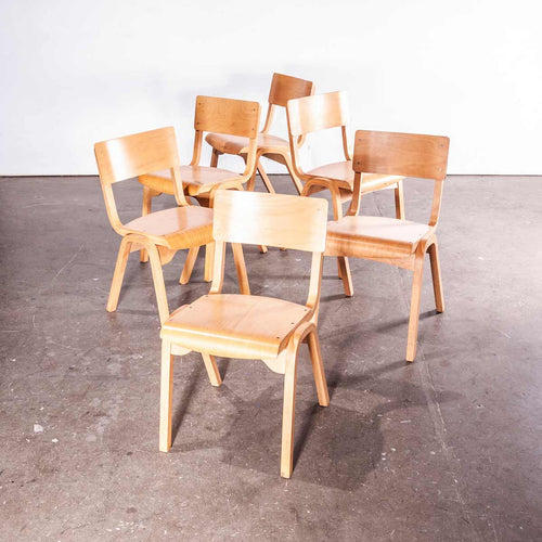 1950's Stacking Dining Chairs By Lamstak