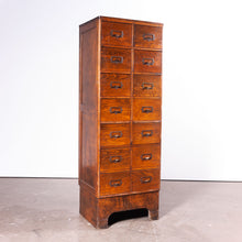 Load image into Gallery viewer, 1940s Ash Chest Of Drawers / Filing Cabinet