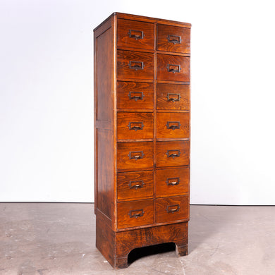 1940s Ash Chest Of Drawers / Filing Cabinet
