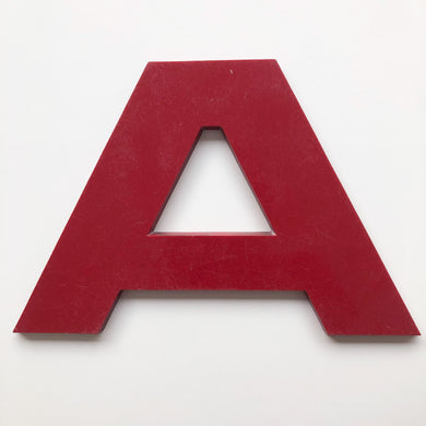 A - Large Letter Solid Perspex