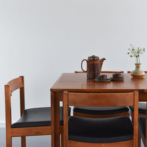 Rare Vintage Extending Dining Table and Six Chairs
