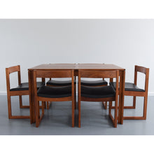 Load image into Gallery viewer, Rare Vintage Extending Dining Table and Six Chairs