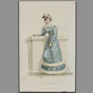 Original Fashion Print by Rudolph Ackerman - Carriage Costume