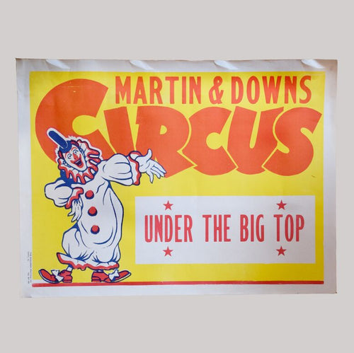 Vintage Circus Poster - 17 - Martin & Downs