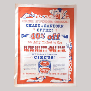 Vintage Circus Poster - 19 - Chase & Sanborn