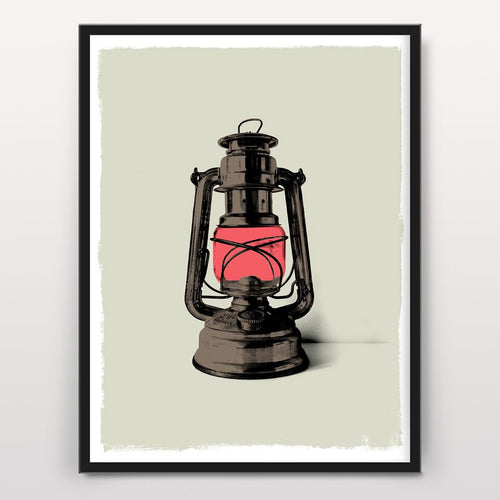 Hurricane Lamp - Screen Print