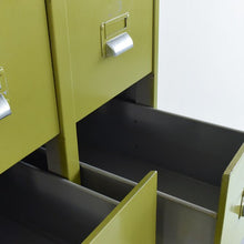 Load image into Gallery viewer, Vintage Metal Avocado Green 10 Drawer Filing Cabinet by Sankey - Sheldon Circa 1966