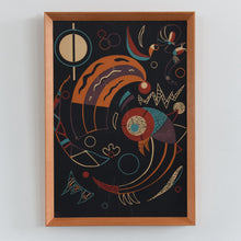 Load image into Gallery viewer, Vintage 1938 Framed Wassily Kandinsky Lithograph Print Titled 'Comets' Possibly From Verve Magazine