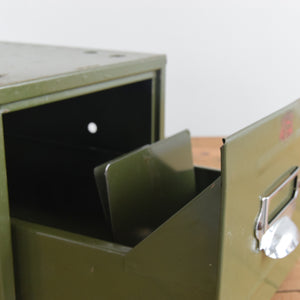 Vintage Green Single Drawer 'Veteran Series' Metal Filing Cabinet - C